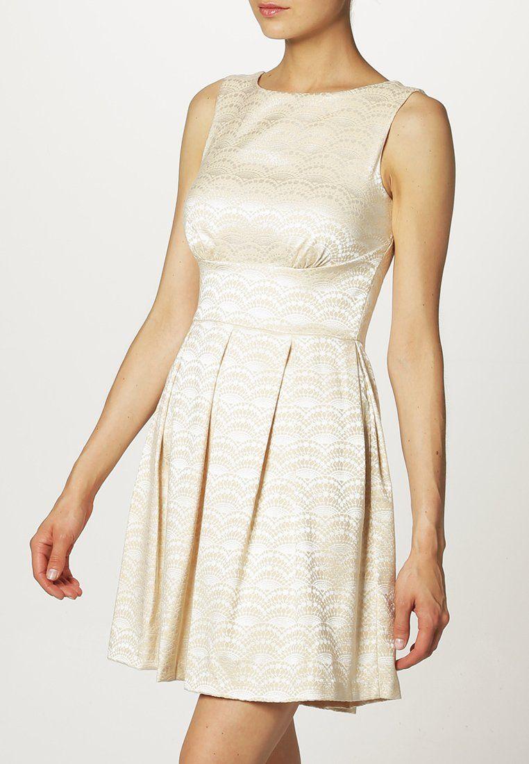 Wunderschönes beiges #Kleid von Closet. Der strukturierte Oberstoff ...