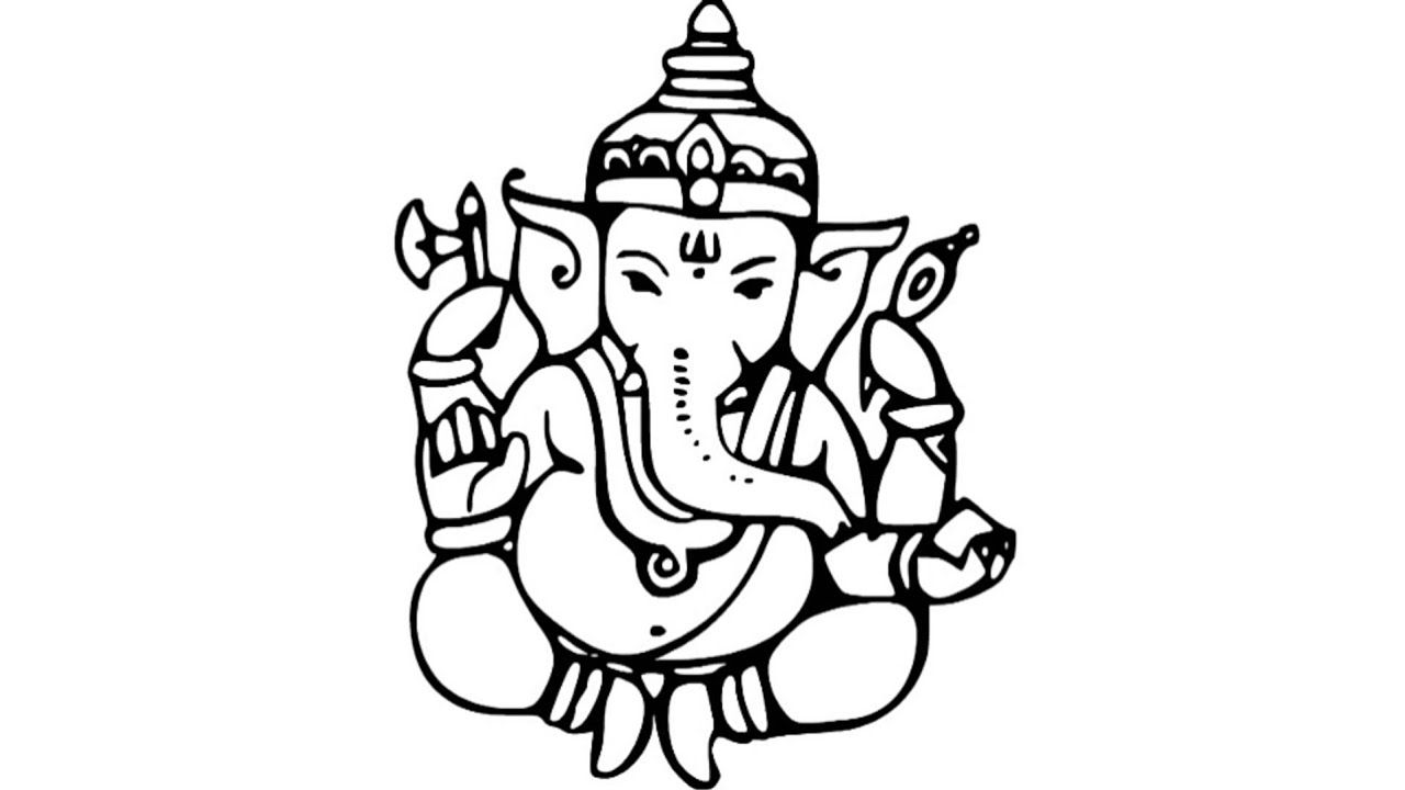 Sketch picture ganesha how to draw bal ganesha sketch easy drawing of ganesh youtube