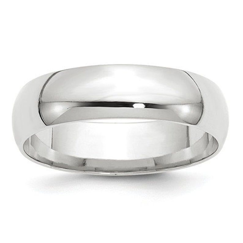 Real Comfort Fit 10k Solid White Gold 6mm Men S And Etsy In 2020 Comfort Fit Band Comfort Fit Wedding Band White Gold