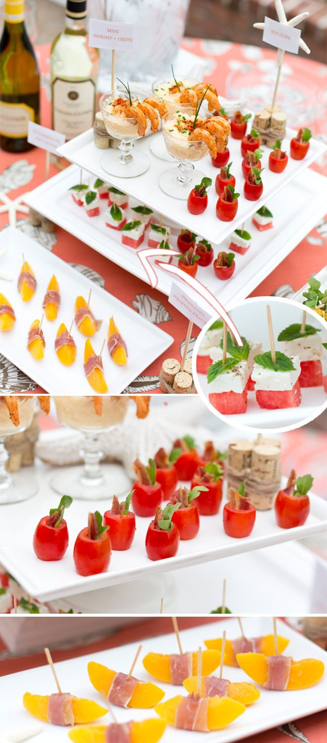 Seaside Southern Wine And Appetizer Party Pizzazzerie Appetizers For Party Mini Appetizers Appetizer Display