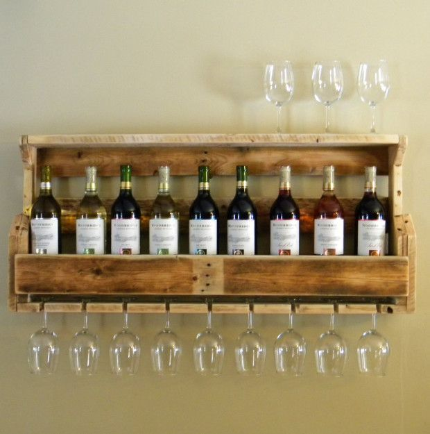 Support vin et palette de bois wine bar pinterest support vin et pal - Support a vin en bois ...