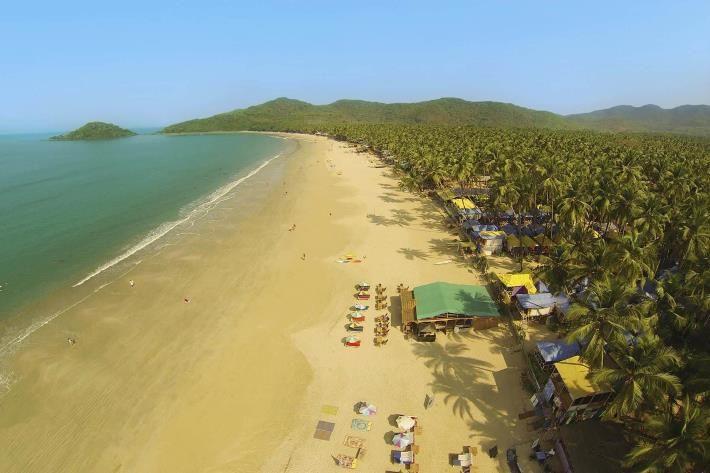 Palolem Beach in India.