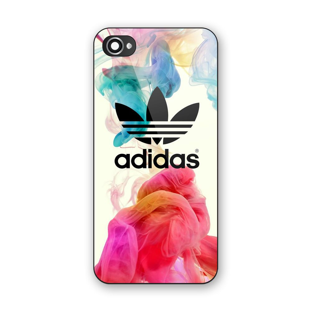 iphone 5a case new adidas logo colorful smoke custom print on iphone 5 11068