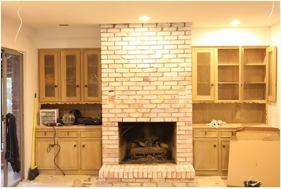 White Washing Brick Fireplace | Fireplace Decor | Pinterest | Brick ...