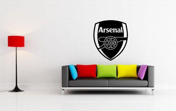 Approximate Sizes Small X3d 22x26cm Medium X3d 45 X 38cm Large X3d 60 X 51cm Arsenal Football Club Soccer Sport Bedroom Vinyl Wall Decals