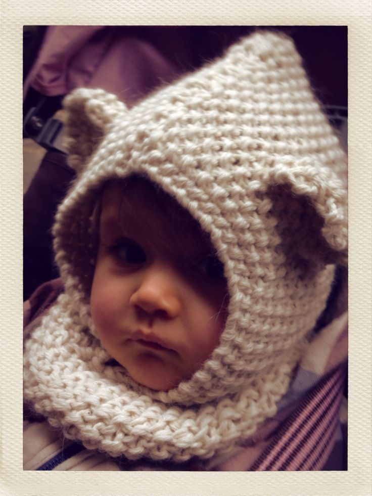 2fed5514a8c9 TRICOTER UNE CAGOULE DROPS, Galerie Creation Layette, Snood, Baby Knitting,  Knitted Baby