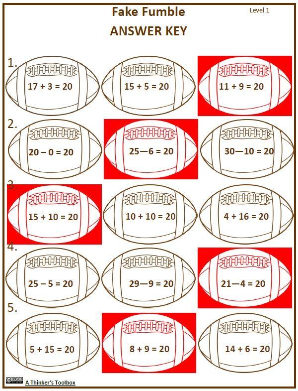 Super Football Math   ***Sweet Math Resources for all Grades   Pinterest