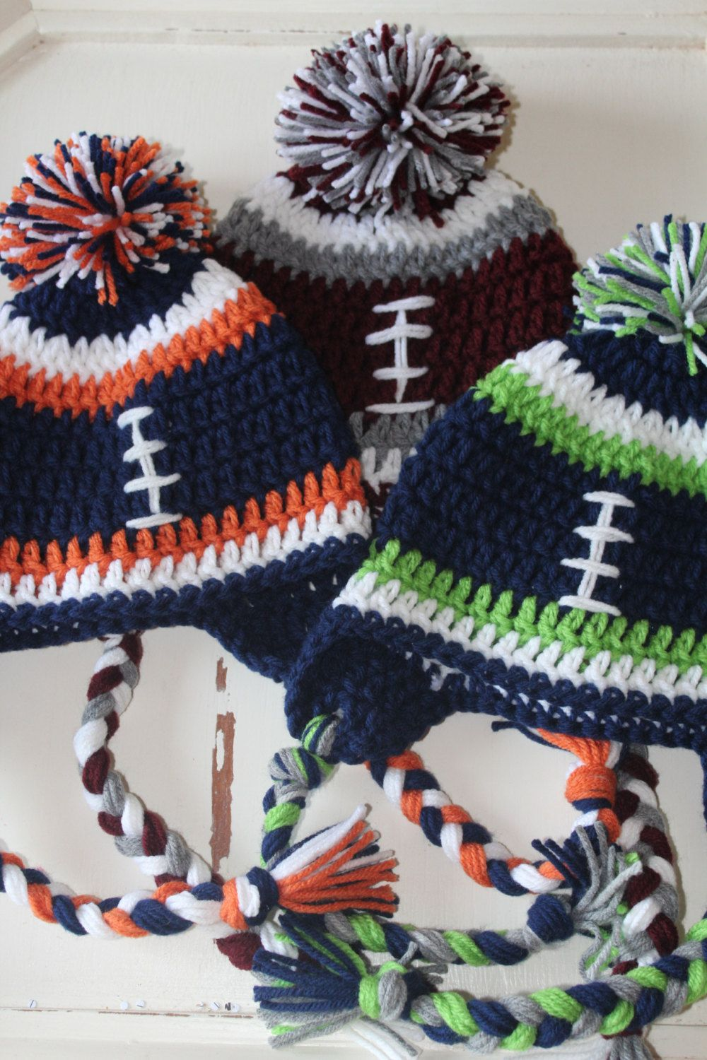Football beanie hat crochet boy male female seahawks broncos football beanie hat crochet boy male female seahawks broncos bankloansurffo Choice Image