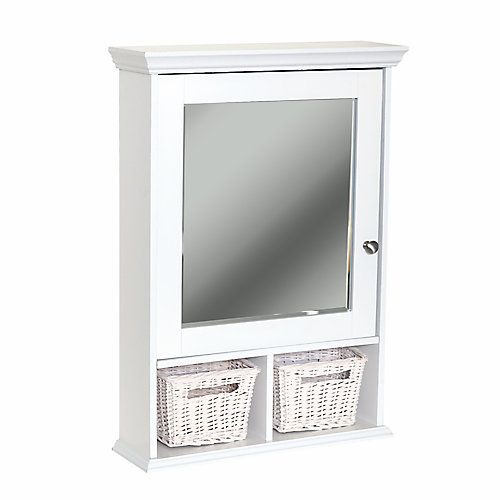 Zenith Bathroom Mirror zenith products wall cubby medicine cabinet - white | the home