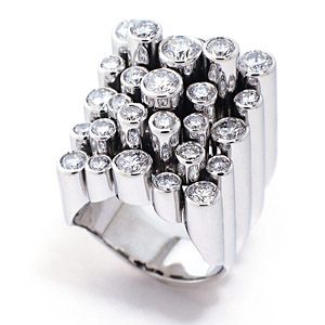 Amsterdam Sauer Rings - De Beers International award winner Constellation Diamond Ring in 18kt white gold