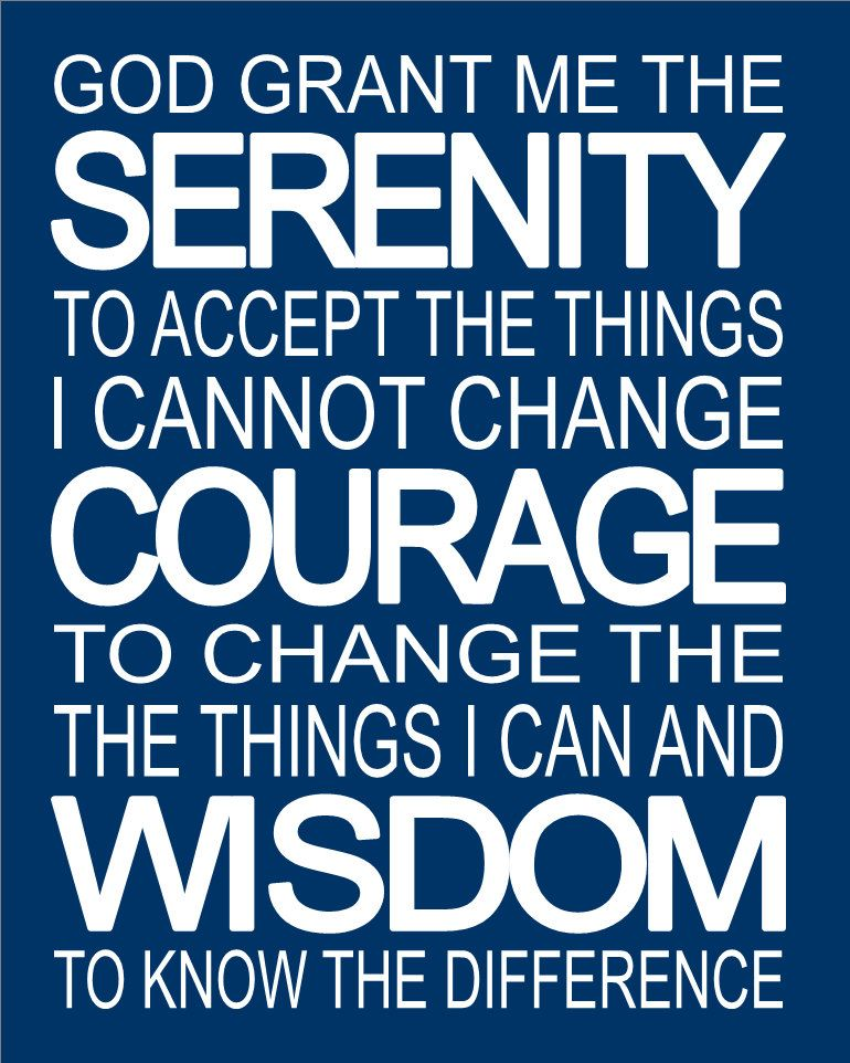 Inspirational Prayer Quotes: Serenity Prayer Inspirational Spiritual Subway Art