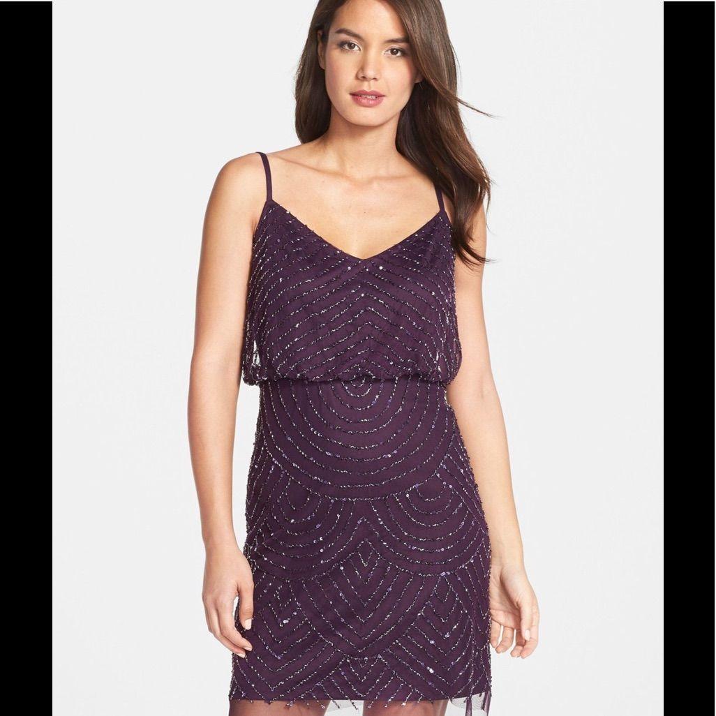 Adrianna Papell Blouson Beaded Dress | Products by Poshmark99 ...