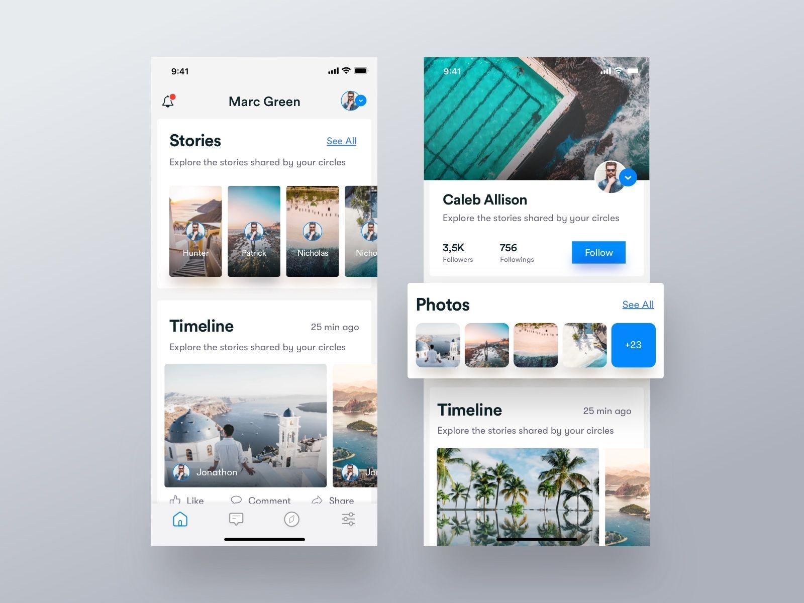 Social Feed & Profile Screen iOS App | Feeds | Ios app