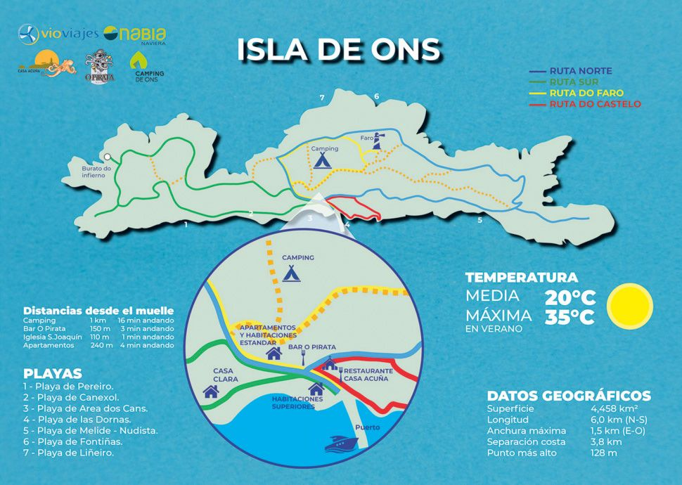 Isla De Ons Mapa.Camping Isla De Ons Experience The Beauty Of Galicia We Are Located In The Rias Baixas Low Estuaries Of Galicia Specifi White Sand Beach Northern Spain Isla