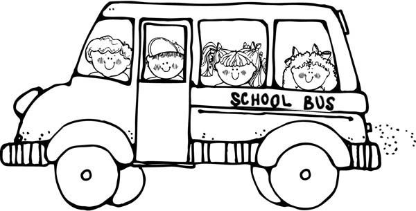 Doing A Field Trip On A School Bus Coloring Page School Coloring
