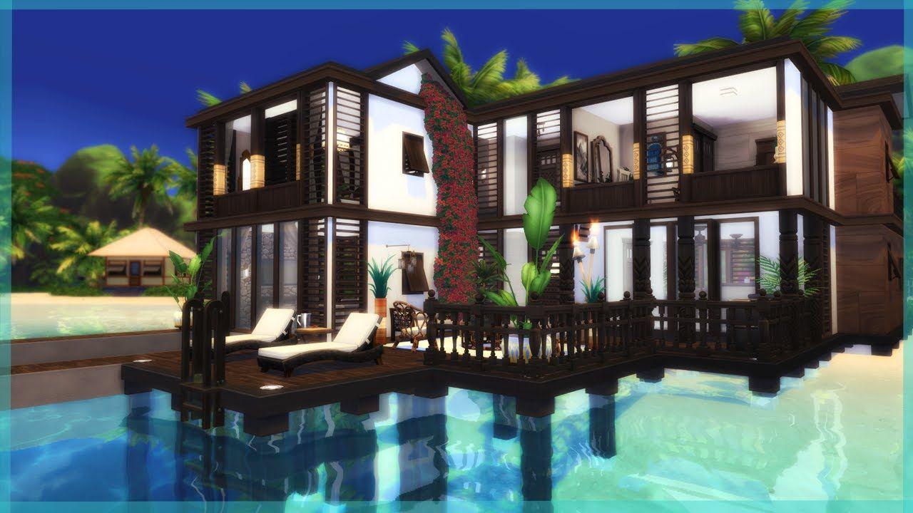 Luxury Sulani Manor The Sims 4 Island Living Speed Build Sims 4 House Building Island Living Sims 4 Houses