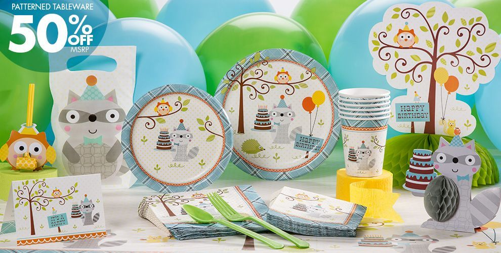 Boy Birthday Party Supplies Happi Woodland Party City stuff