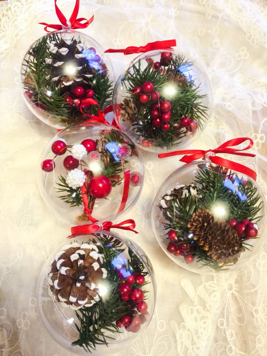 DIY homemade nature inspired Christmas ornaments (with