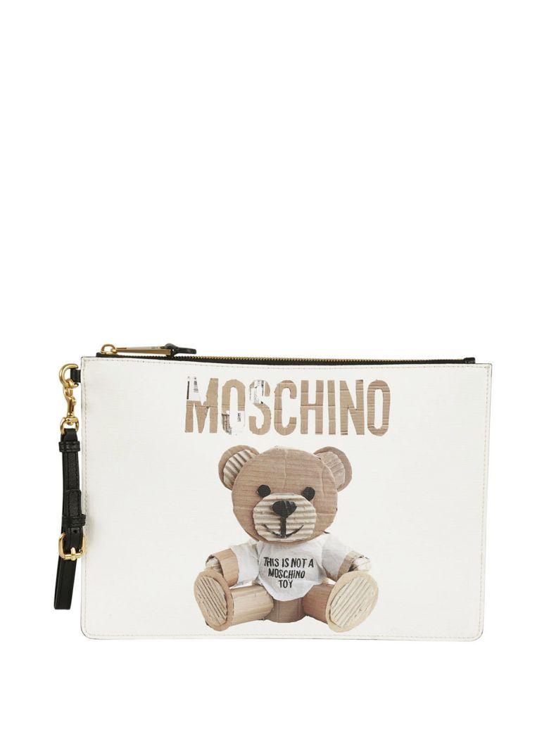 Moschino Toy clutch bag - White rDoPe