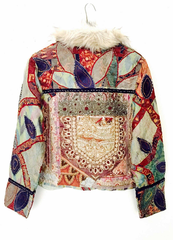20803ae0babd Vintage Kutch Patchwork Vest   Vintage Embroidery Vest Jacket   Faux ...