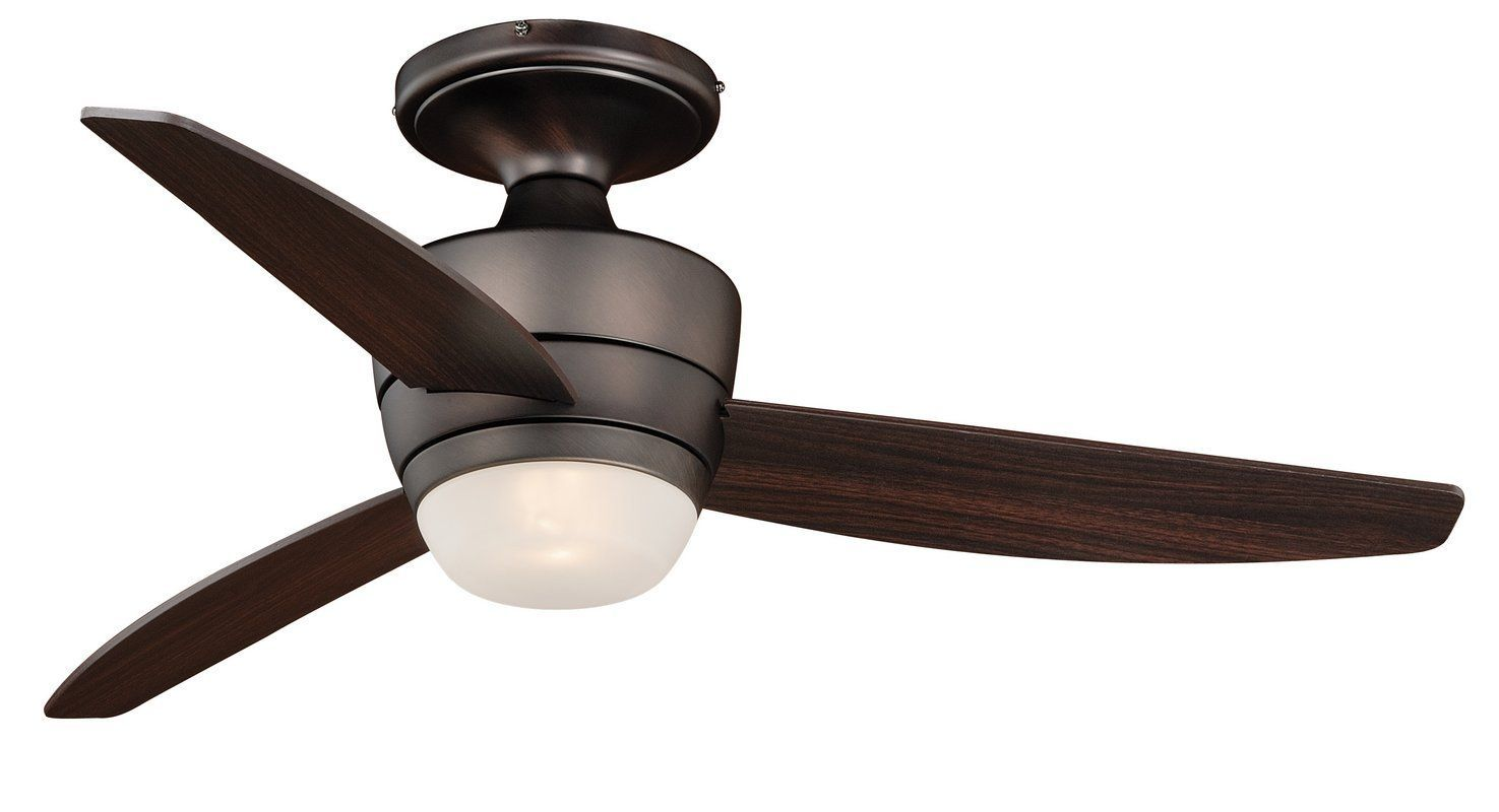"Vaxcel Lighting F0031 Adrian 44"" 3 Blade Indoor Ceiling Fan - Light Kit and Fan Copper Bronze Fans Ceiling Fans Indoor Ceiling Fans"