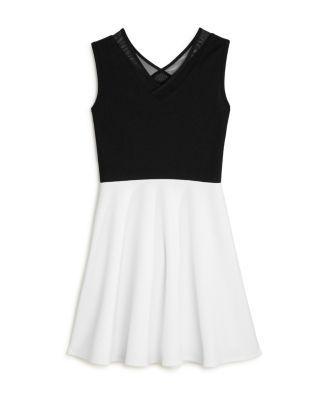 Sally Miller Girls' Becca Crisscross Dress - Big Kid - Black/ivory #sallymiller