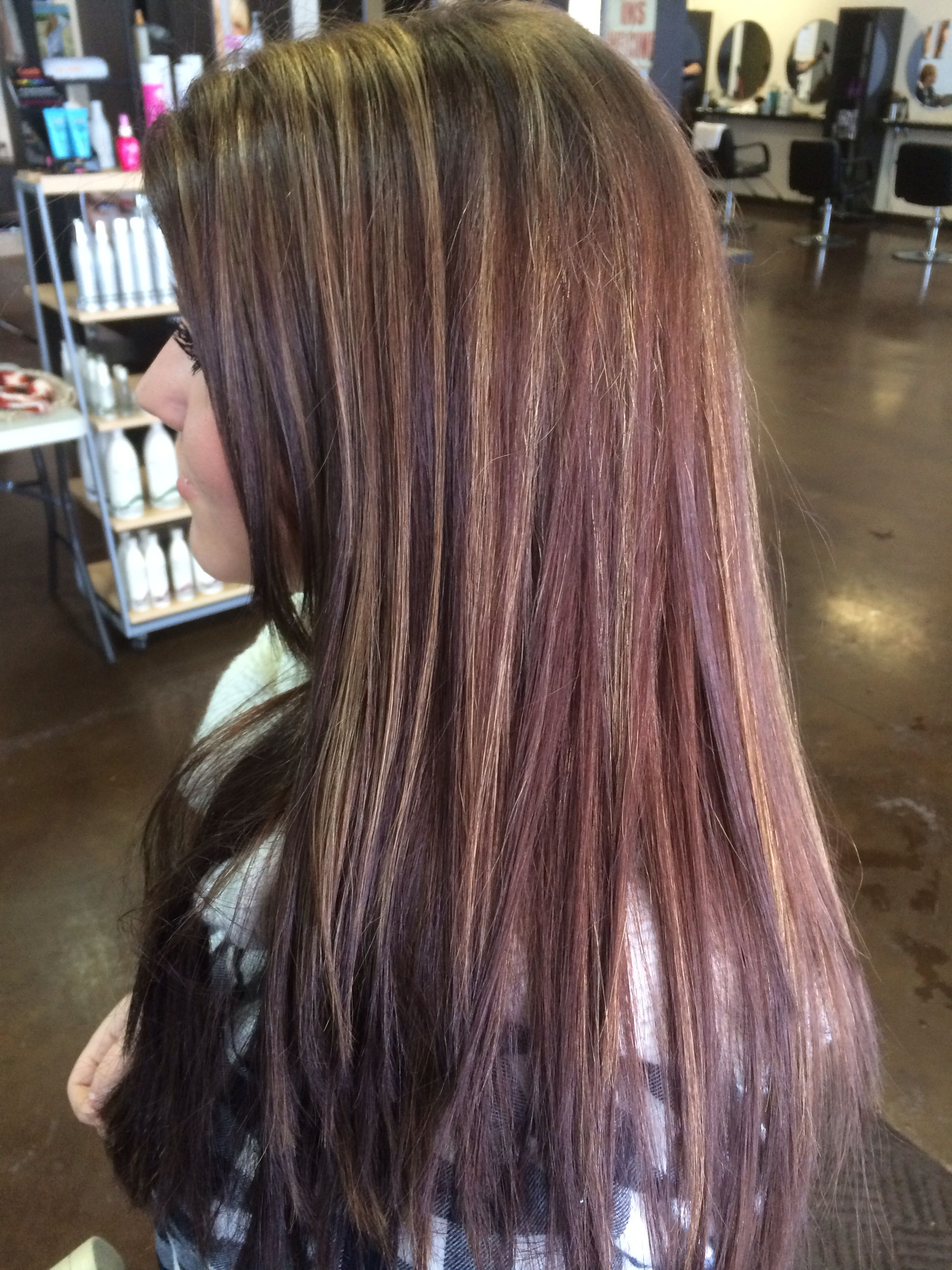 Chestnut with caramel highlights! Hair makeup, Long hair