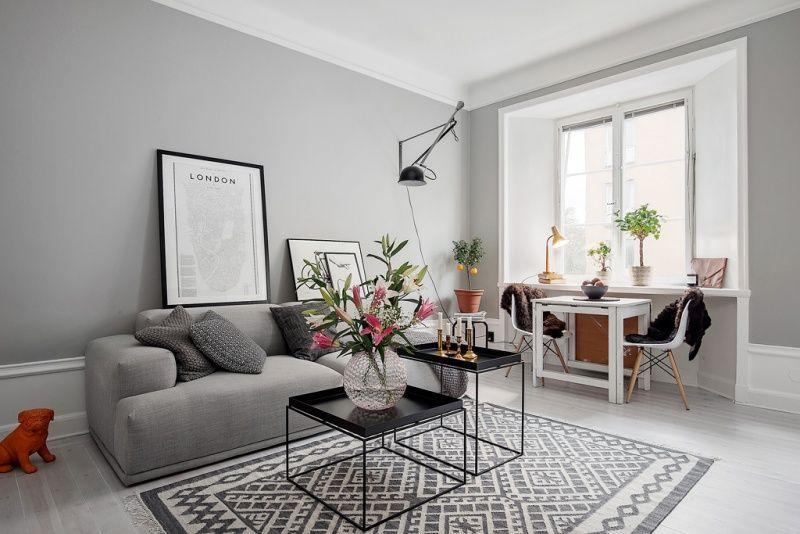 Unificar espacio comunicando ambientes y empleando el - Gama de colores grises ...