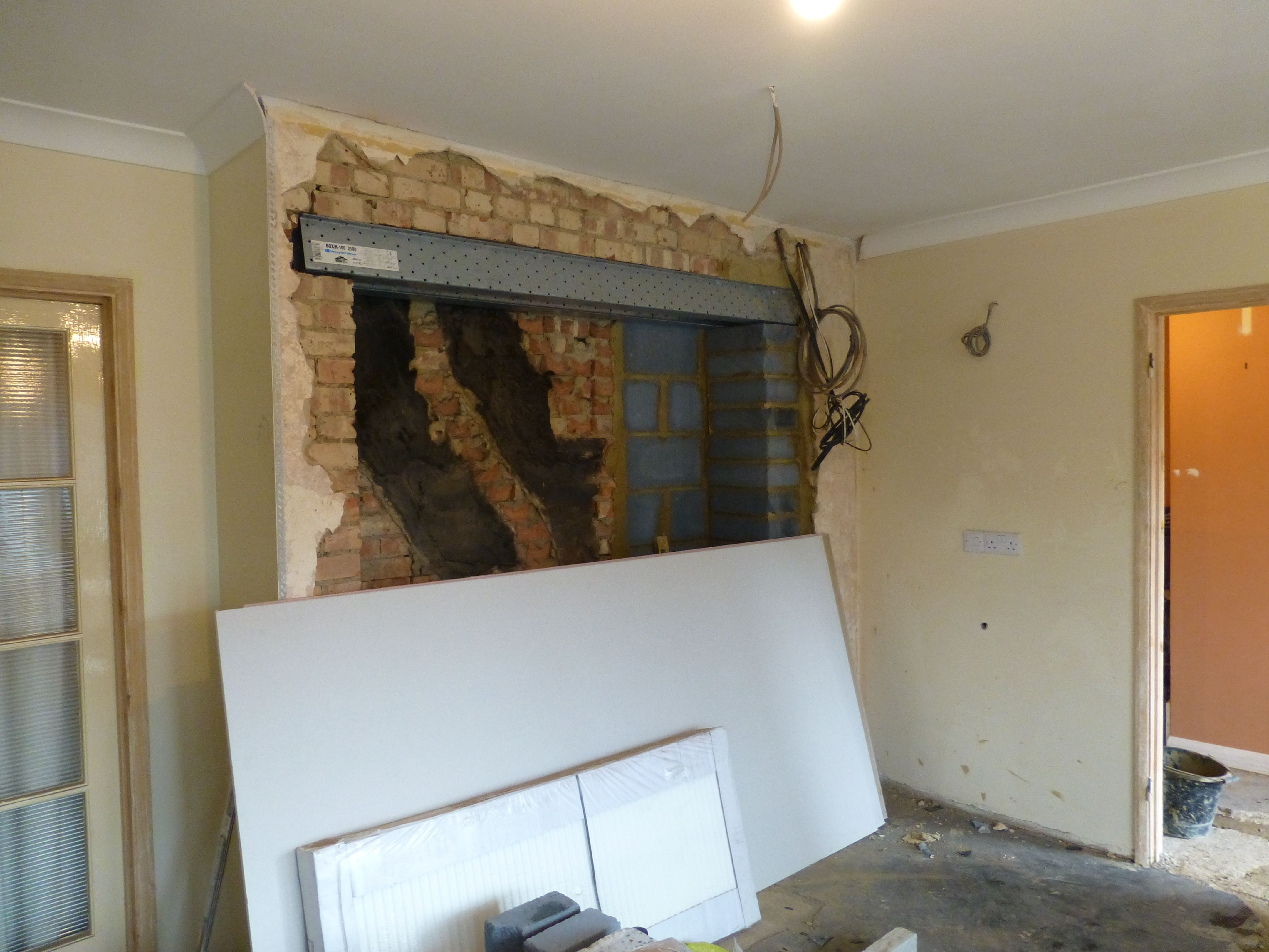 lintel to support removal of chimney breast to allow for. Black Bedroom Furniture Sets. Home Design Ideas
