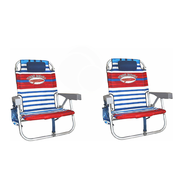 Stupendous Tommy Bahama Backpack Beach Chairs Red White Blue Stripes Caraccident5 Cool Chair Designs And Ideas Caraccident5Info