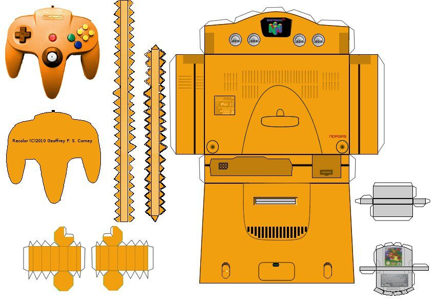 papercraft templates n64 papercraft template by gpsc on