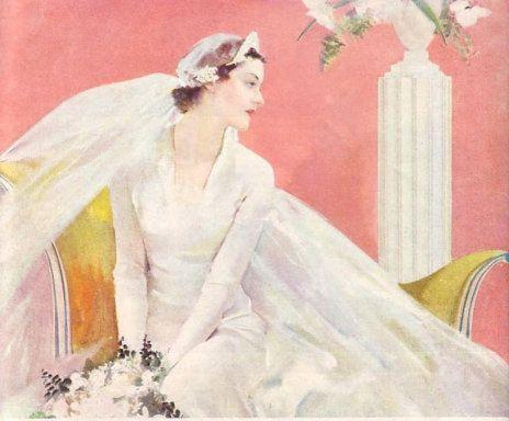 1930s Bride ~  LÁMINAS VINTAGE,ANTIGUAS,RETRO Y POR EL ESTILO....pg. 807