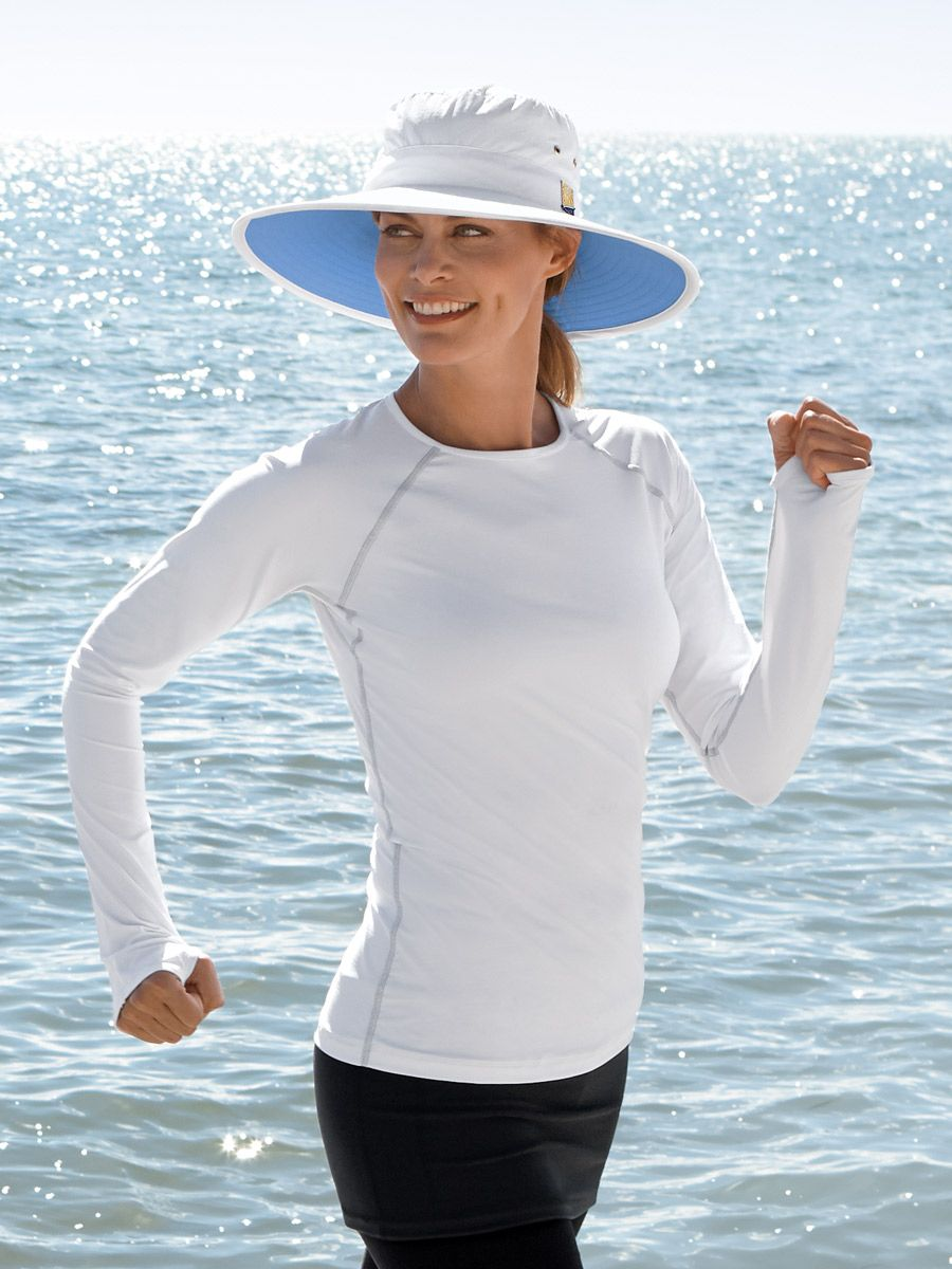 a5d8329e Women's Bodyshade Workout Athletic T-Shirt - Solumbra: All Day 100+ SPF Sun  Protective Clothing - Style# 11540
