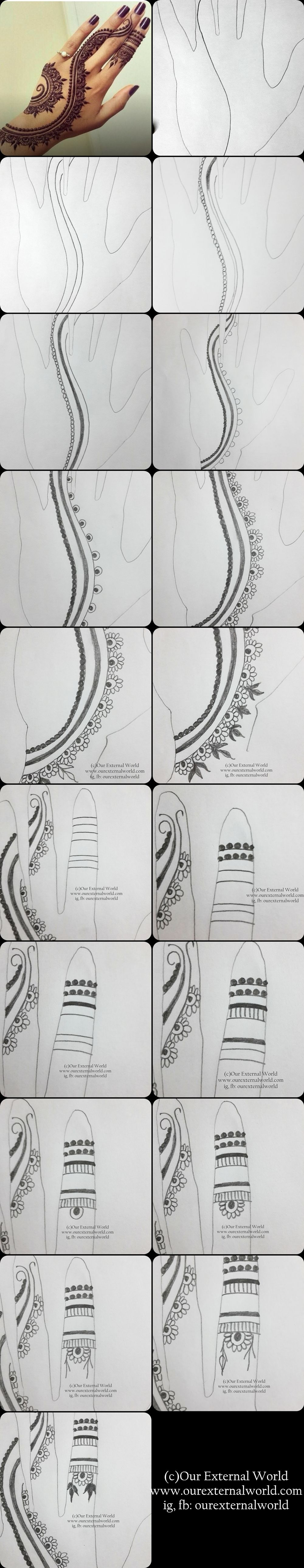 DIY Step By Step Henna Pattern (Mehndi Design) - check out individual step pics…