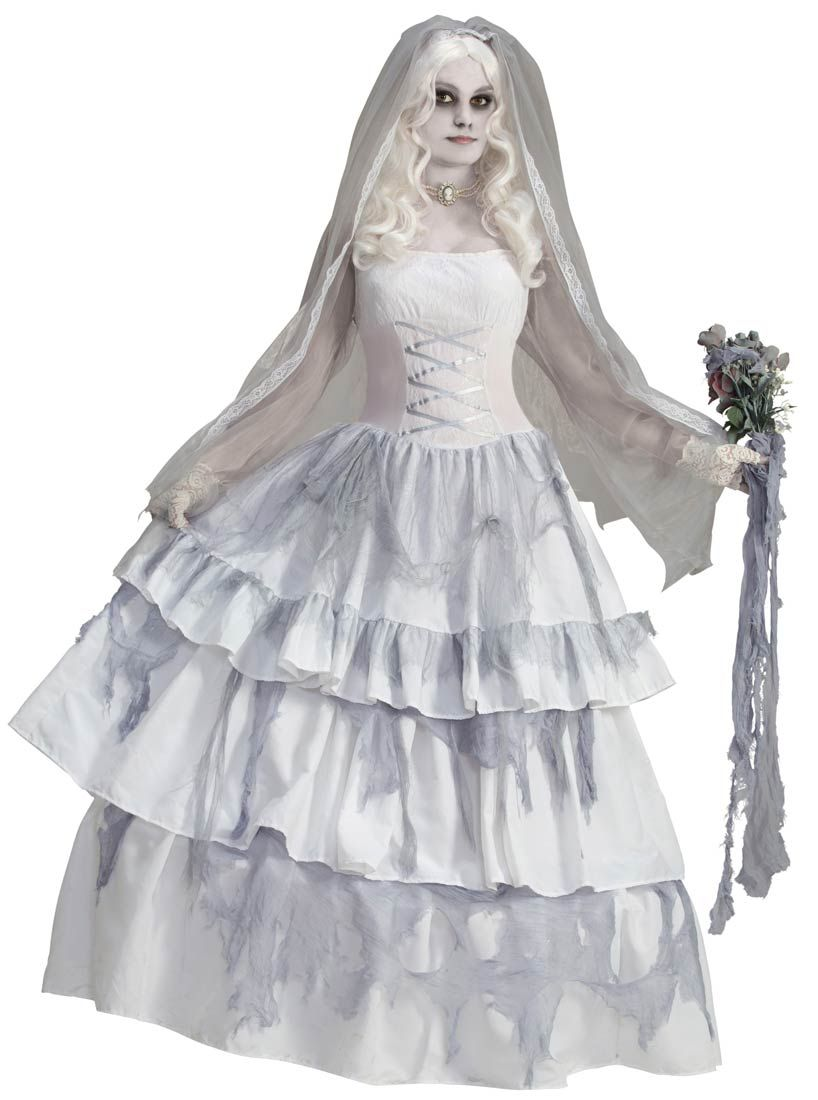 Limited Supply Click Image Above Victorian Ghost Bride Adult Costume