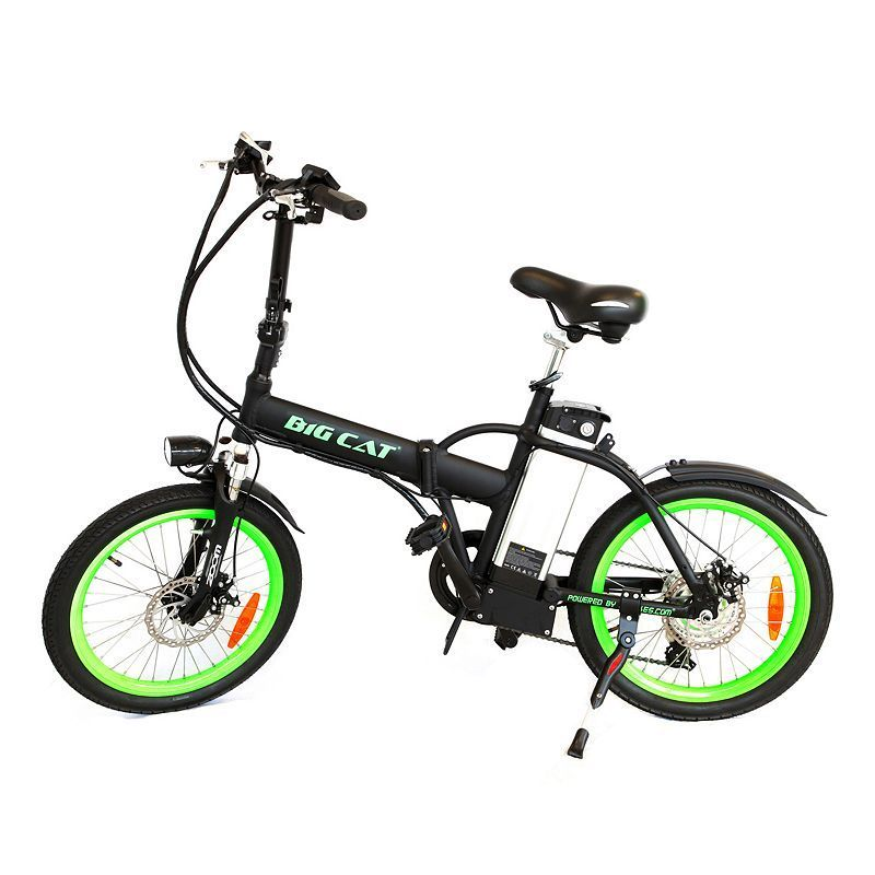 Big Cat Electric Bikes Hampton Folding Electric Bike, Multicolor ...