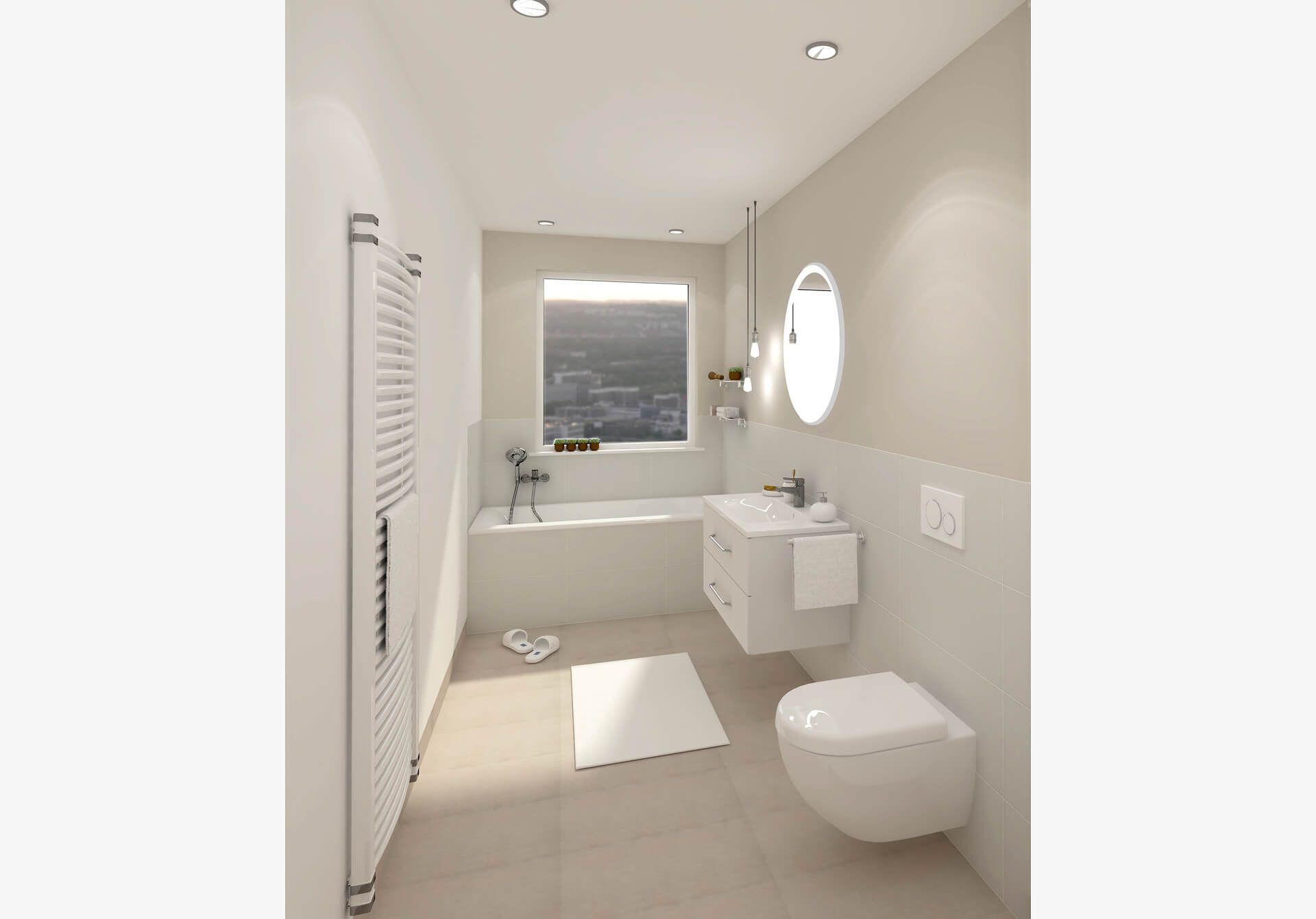 Badezimmer Sanfter Morgen In 2020 Helle Badezimmer Badezimmer Landhaus Badezimmer Fliesen Beige