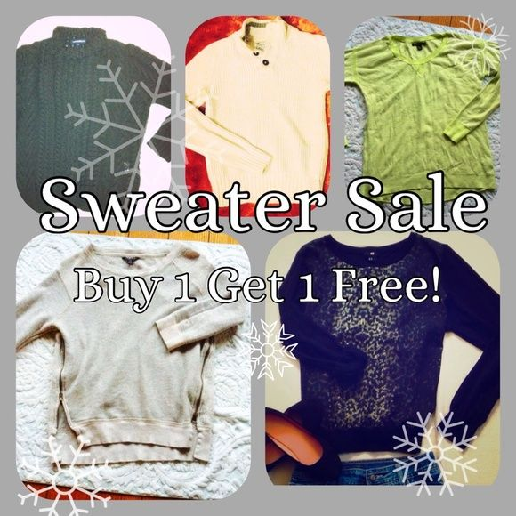 Sweater BoGo Sale! Buy one get one free! All sweaters! American Eagle Outfitters Sweaters