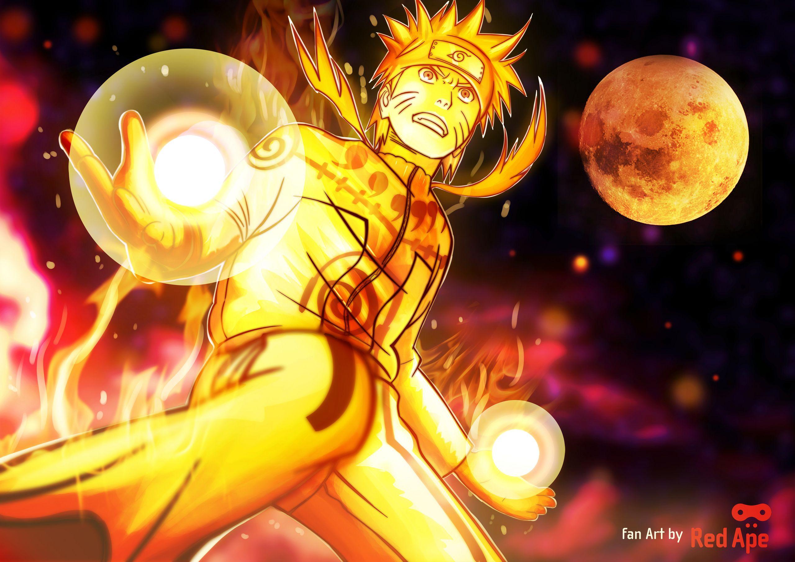 Naruto Nine Tails Chakra Mode Naruto Images Naruto Nine Tails