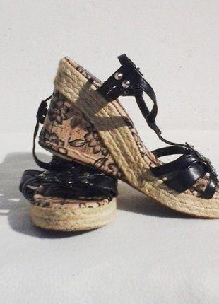 1273df8013271 Sandales compensées Miss Tigress Noir 39