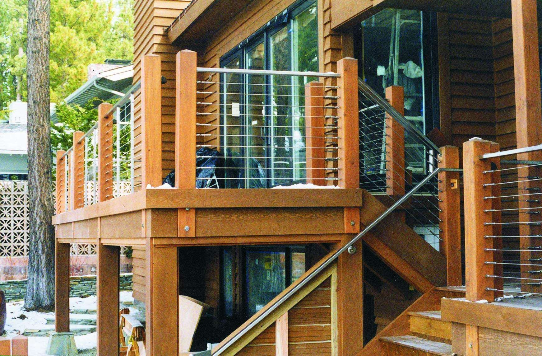 Love This Cable And Tube Railing For Deck
