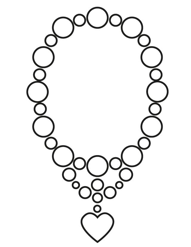 Wedding Coloring Pages Wedding Necklace