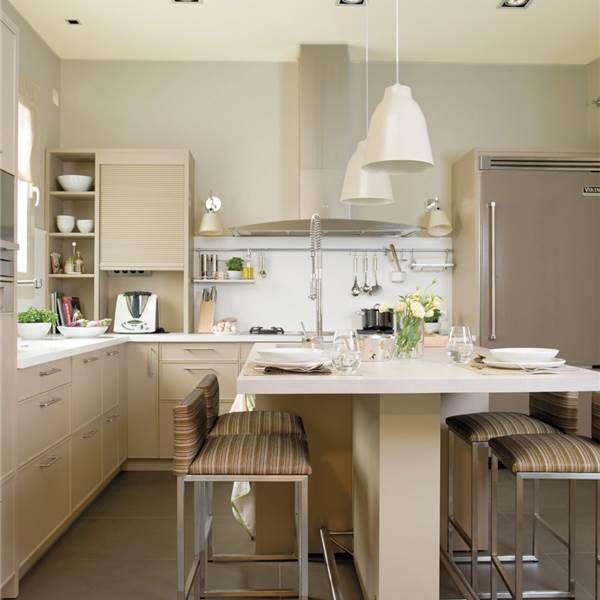 Desayuna en la cocina 10 cocinas con barra decoraci n - Cocinas con barra ...