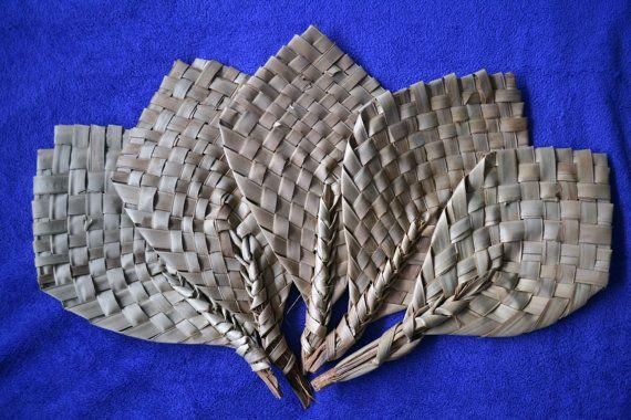 Hand Fan Palm Branches Un-decorated Hand Fan by Boriquahafrikanah
