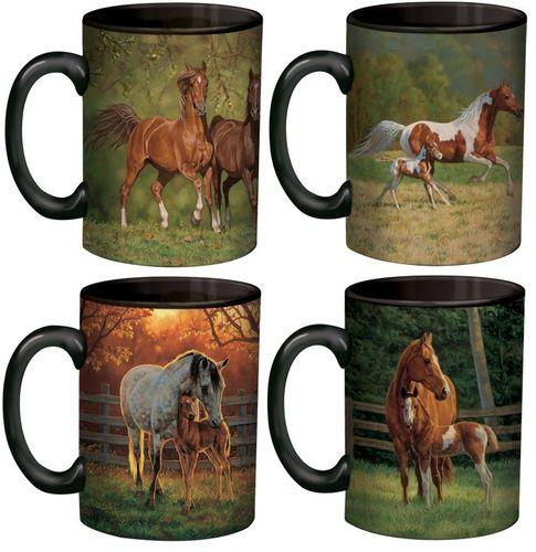 Western Kitchen Decor Sets: Horse Mugs - Unique Designs