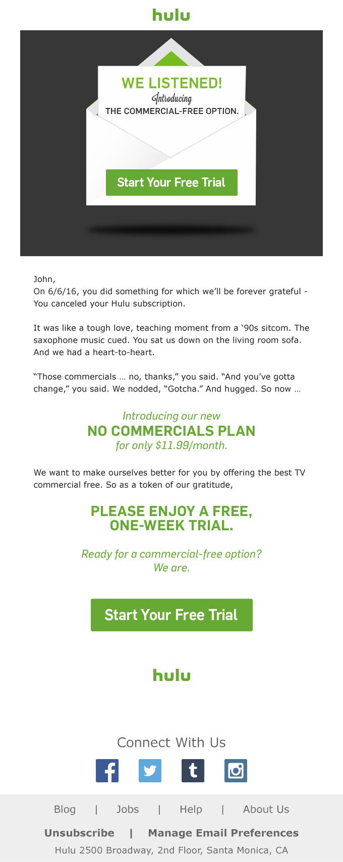 hulu email | Media | Email design, Design, Ios