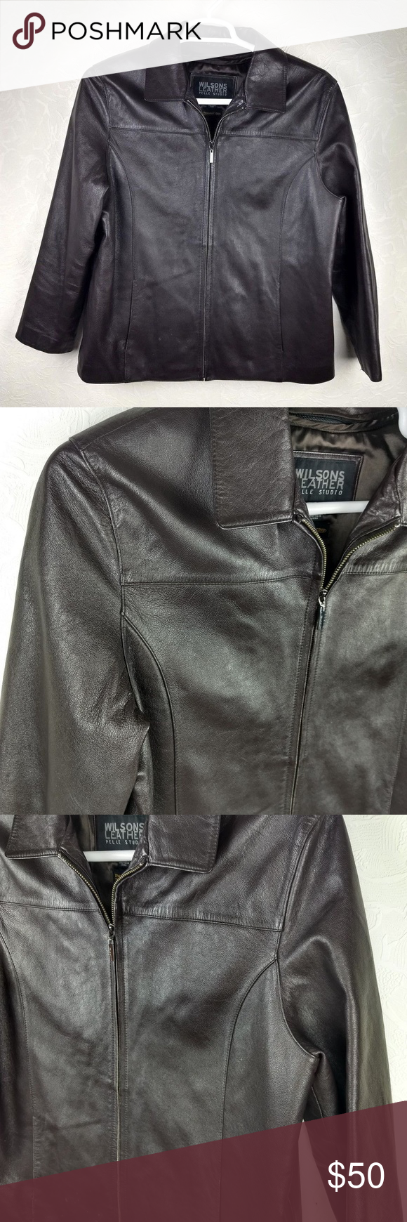 Wilsons PELLE STUDIO Insulated Leather Jacket Leather