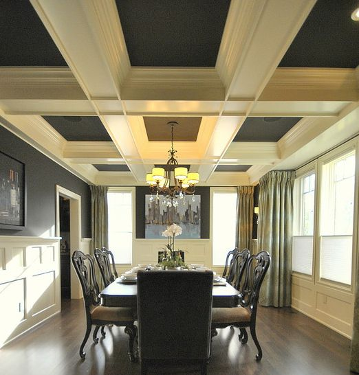 300 Ceiling Design Ideas Pictures  Ceilings Chandeliers And Walls Awesome Coffered Ceiling Dining Room Inspiration