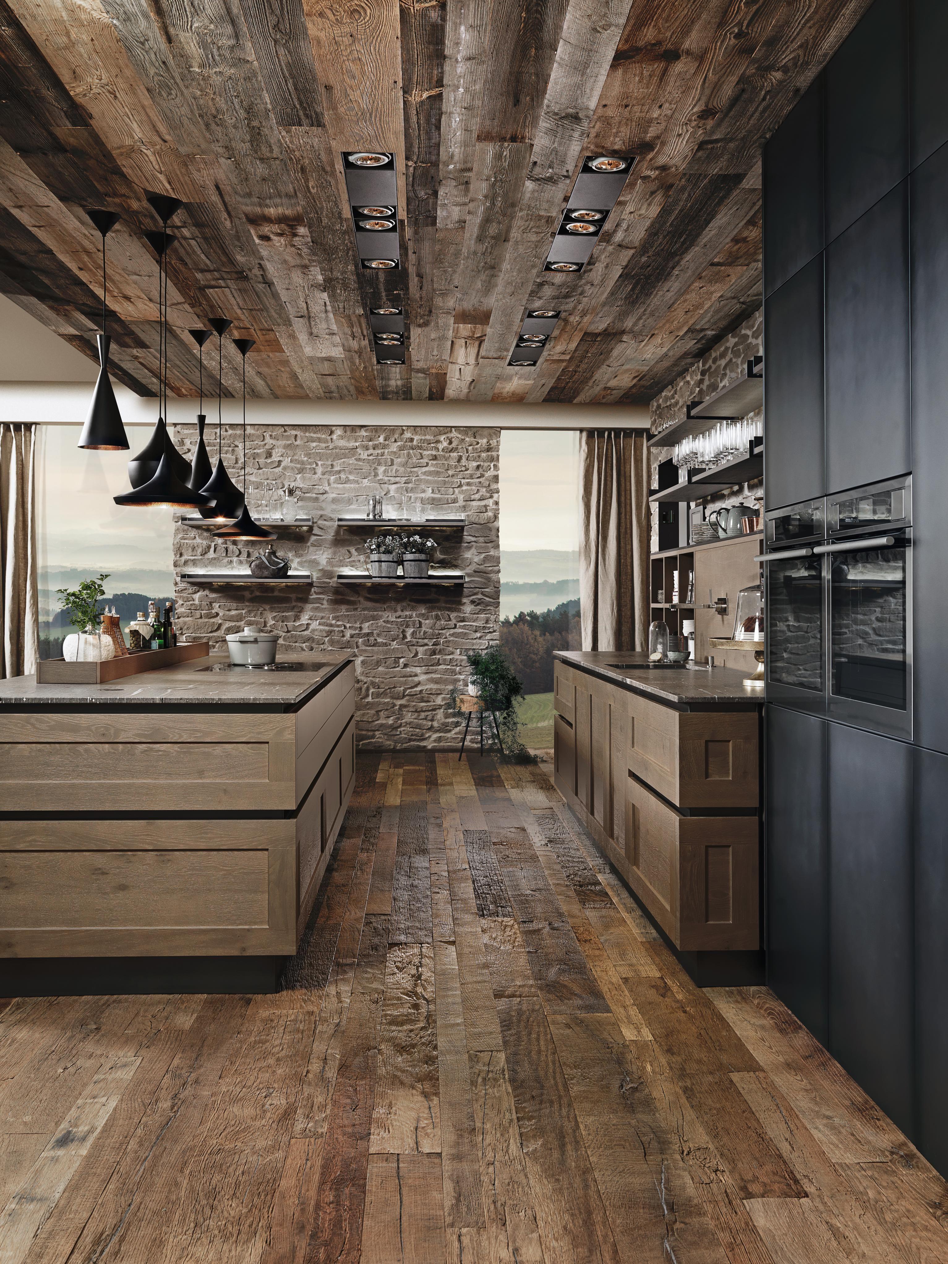Beste Kuchenmarke Leder Sitzbank Global 3190 In Blau Krause Home