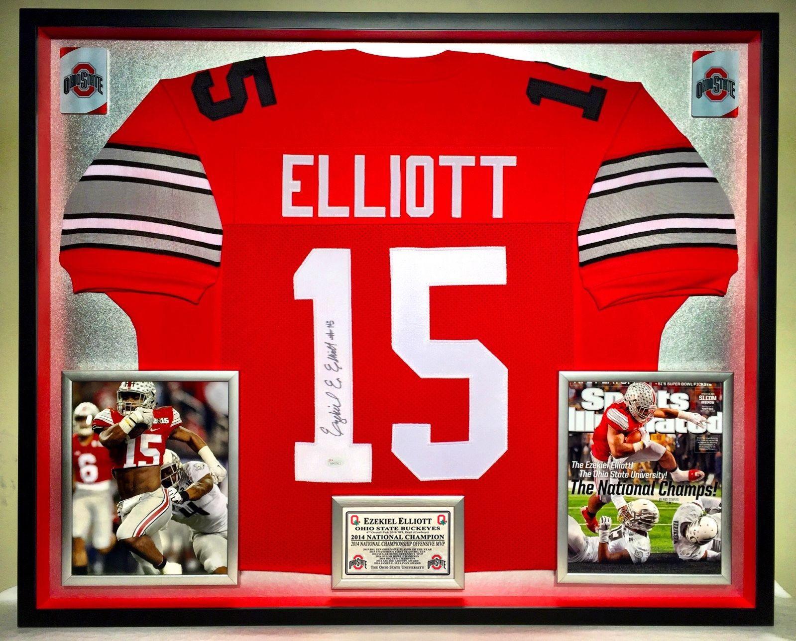 Premium Framed Ezekiel Elliott Autographed Ohio State